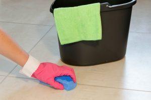clean linoleum